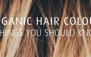 Brown highlights organic hair colours