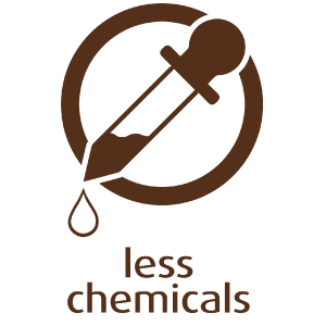 Less chemicals