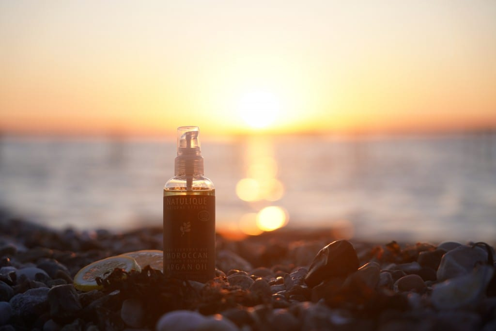 hair oil summer kit at the beach