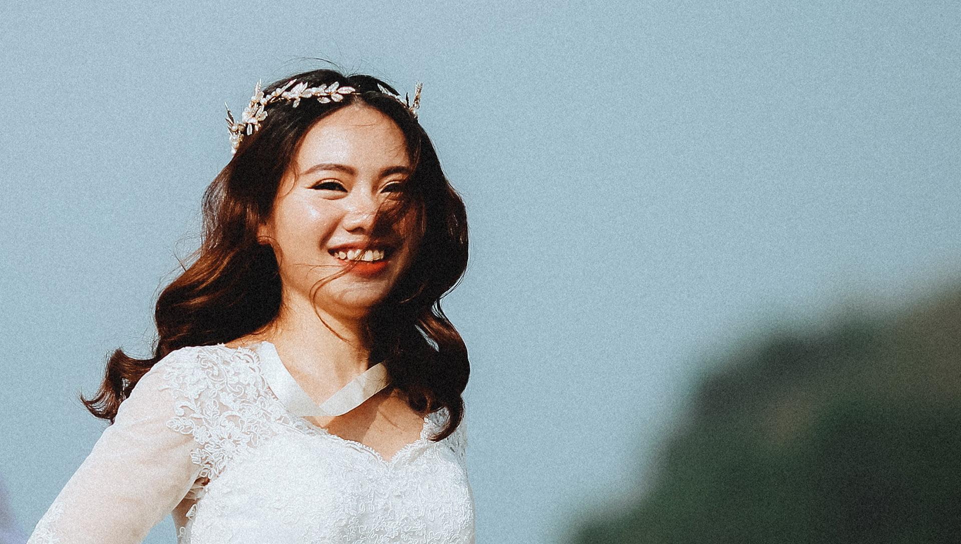 textured wave bride hair 2019