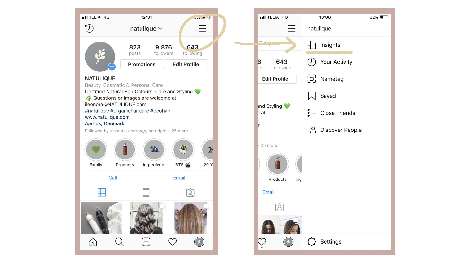 check your instagram story insights