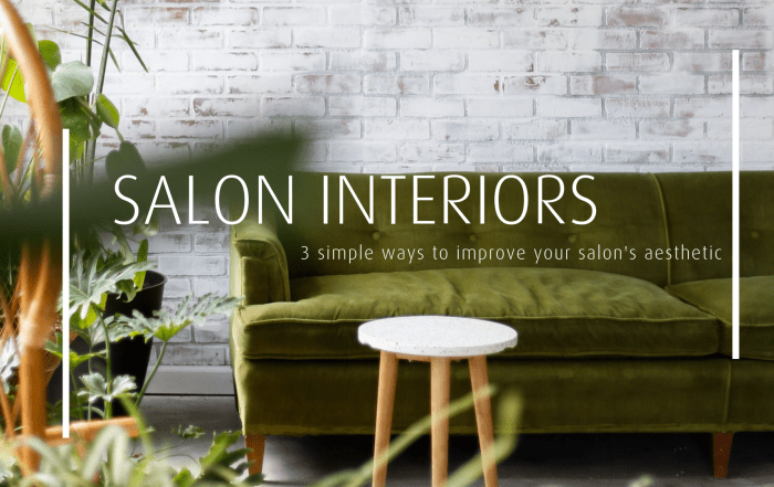 salon interior green