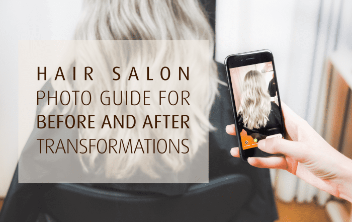 Hair salon photo guide on before and after transformations