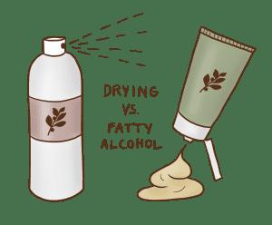 Drying vs. Fatty Alcohol
