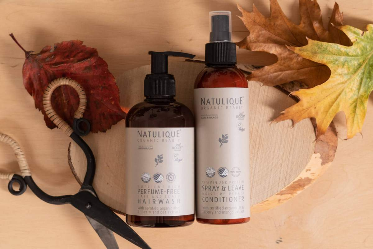 pefume-free hairwash and leave-in conditioner